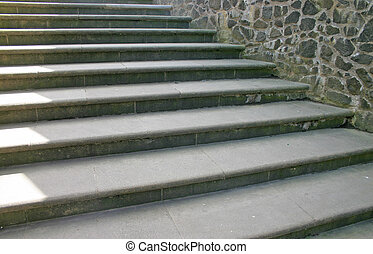 Stone Steps at Stirling Castle in Scotland