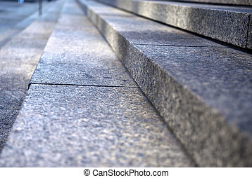 Stone steps - Stairway with granite stone steps in ...