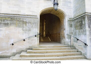 Stone steps to Entrance way