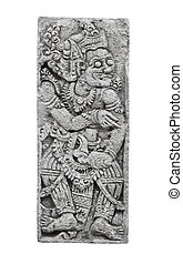 Stone tablet with the image of the deity. Indonesia, Bali