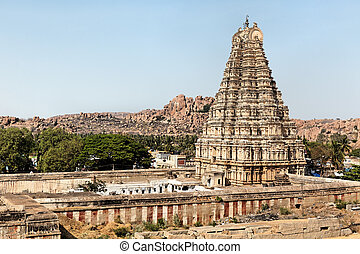 Stone temple of Hampi town