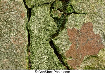 stone texture of a concrete wall with cracks