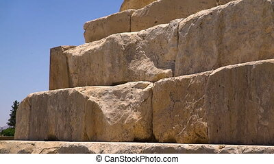 Stone texture of the Tomb of Cyrus