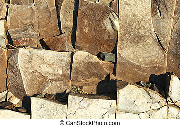 Stone texture - Texture of brown stone mineral