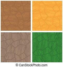 Stone textures set - Four stone backrounds different colors...
