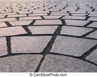Stone Tile Pattern - made up of four-cornered slabs