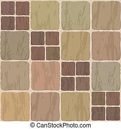 stone tile seamless background - vector stone floor tile...