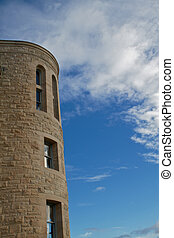 Stone Tower Blue sky HDR