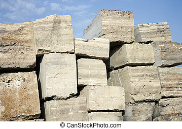 stone., travertin