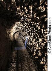 Stone tunnel, Jordan
