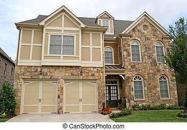 Stone Two Story House