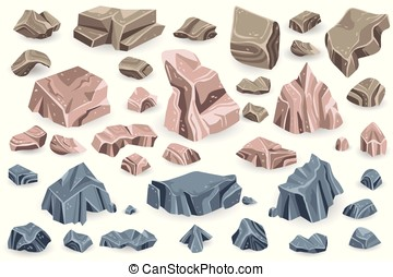 Stone Vector Collection Game Icons - Stone rock vector...