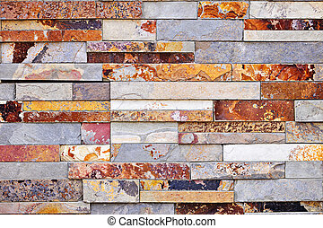 Stone veneer background - Background of natural slate stone ...