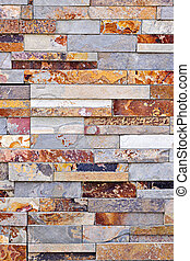 Stone veneer background - Background of natural slate stone...