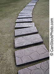 Stone walkway in the garden.
