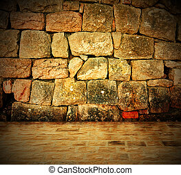 Stone wall background - An old stone wall makes an excellent...