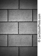 Stone wall background in black and white