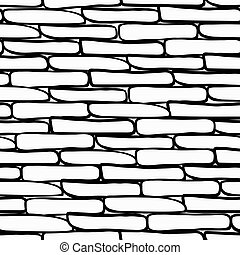 Stone wall background, vector format