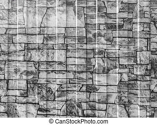 Stone wall black and white