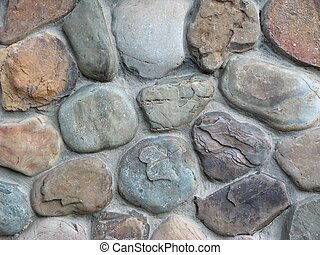 Close up view of a stone wall