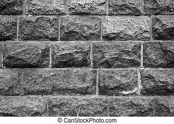 Stone wall from a granite