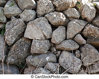 Stone wall in nature