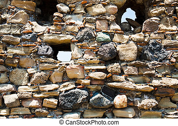 stone wall of ancient castle