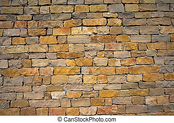 Stone wall of masonry Spain