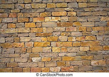 Stone wall of masonry Spain