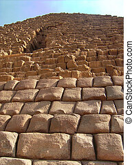 Stone wall of the pyramid