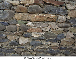 stone wall - old wall of stones. architecture. background...