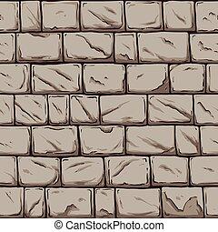 Stone wall - Seamless stone wall. Vector clip art ...