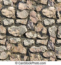 Stone Wall. Seamless Tileable Texture. - Stone Wall Texture...
