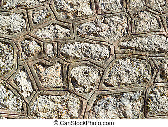 Stone wall - Stock Image