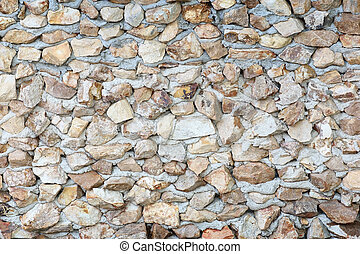 stone wall surface with cement background