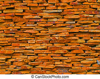 Stone wall - The stone wall is used as inside and outside of...