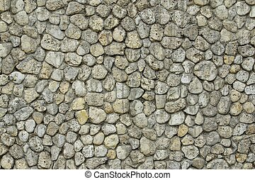 Stone Wall with Random Tiled Pattern. Background and Texture...