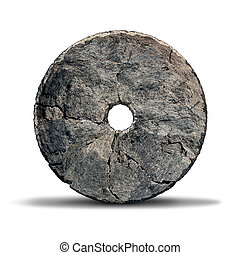 Stone Wheel - Stone wheel object as an early invention of...