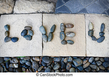 Stone with message love