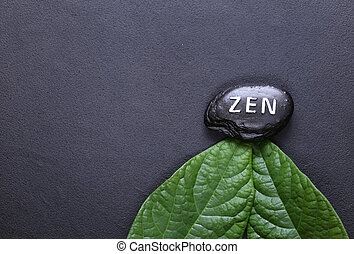 stone with the inscription Zen - a symbol of peace and balance