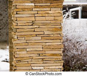 stone-work column - the custom stone-work column with...