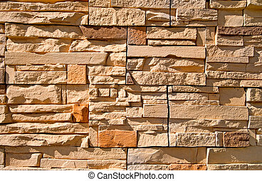 Stone-work is photographed a close-up