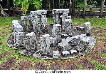 stonehenge , αντίγραφο έργου τέχνης