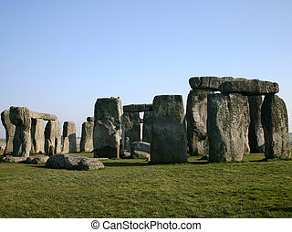 Stonehenge 2 - The ancient standing stone circle at...