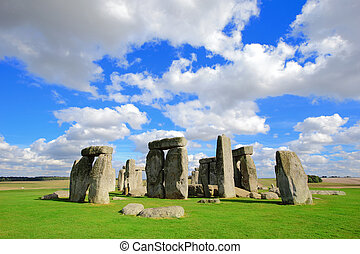 Stonehenge an ancient prehistoric stone monument near...