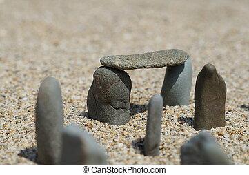 stonehenge, auf, der, beache