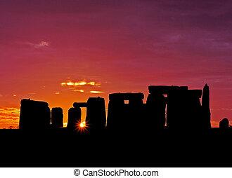 stonehenge, dageraad