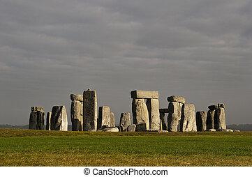 Stonehenge, England, UK - Stonehenge prehistoric monument,...