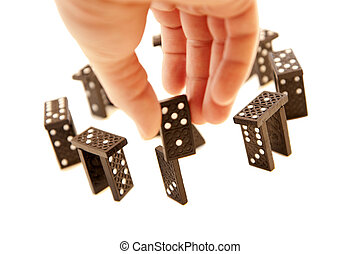 stonehenge, feito, blocos, domino
