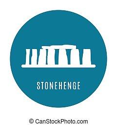 Stonehenge icon isolated on white background. Vector illustration